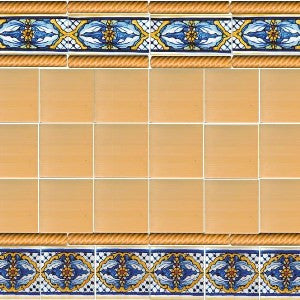 Spanish Valencia Tile with Yellow