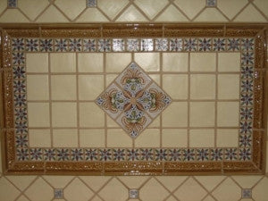 Spanish Teruel Mural Backsplash