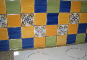 Teruel Spanish Tile Adds Bold, Bright Hues to Backsplash