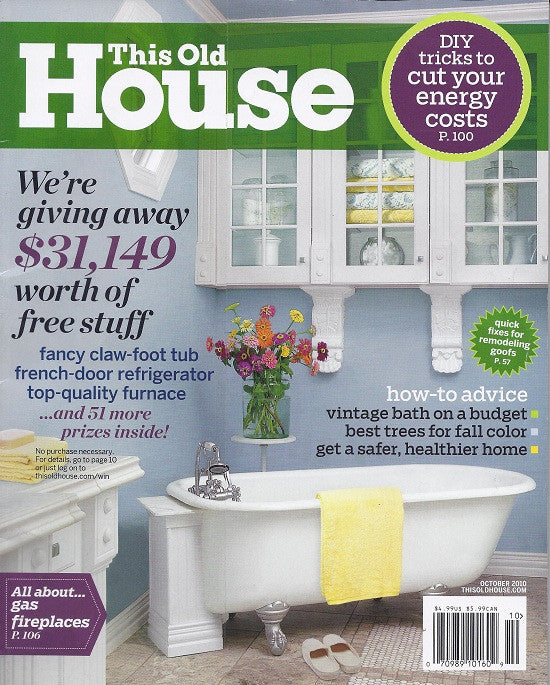 This Old House - Cover October 2010