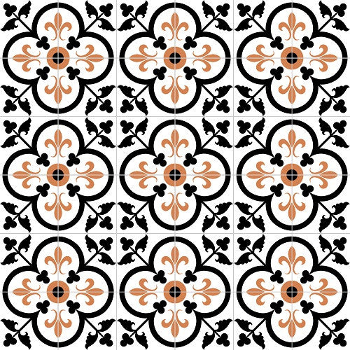 Traditional Fleur-de-Lis in Clover Cement Tile