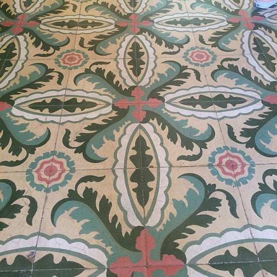 Hip tropical colors and large, intricate patterns are what give Cuban tile it's namesake