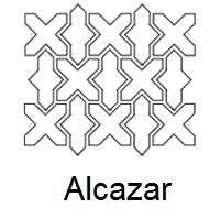 Arabesque Alcazar Line Drawing