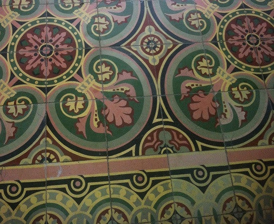 Encaustic Cement Tile Installation in the historical Robert E. Lee Building that Avente Tile assisted with repairs