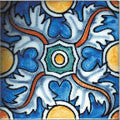 "Portuguese Braganza 4""x4"" Hand Painted Decorative Tile"