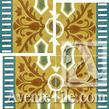 "Cuban Heritage Design 110 3B Border 8""x8"" Encaustic Cement Tile"