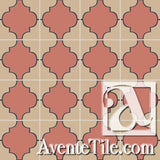 Mission Colonial Relief Encaustic Cement Tile