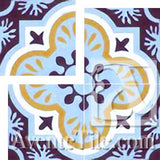 "Cuban Heritage Design 120 1A Cross 8""x8"" Encaustic Cement Tile"