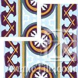 "Cuban Heritage Design 120 1A Border 8""x8"" Encaustic Cement Tile"