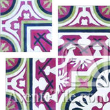 "Cuban Heritage Design 120 3A Inside Corner 8"" x 8"" Cement Tile"