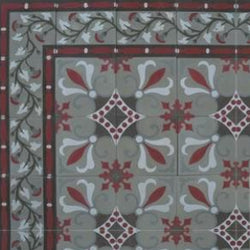 Cuban Heritage Design 230 2A Encaustic Cement Tile Rug