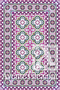 Cuban Heritage Design 120 3A Encaustic Cement Tile Rug