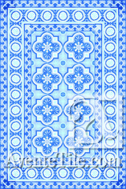 Cuban Heritage Design 120 2B Encaustic Cement Tile Rug