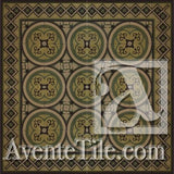 Cuban Heritage Design 250 2B Encaustic Cement Tile Rug