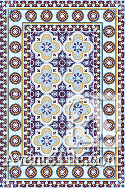 Cuban Heritage Design 120 1A Encaustic Cement Tile Rug