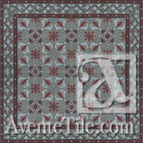 "Cuban Heritage Design 230 2A 8""x8"" Encaustic Cement Tile"