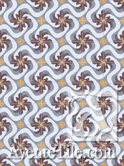 Cuban Heritage Design 150 1A Encaustic Cement Tile Rug