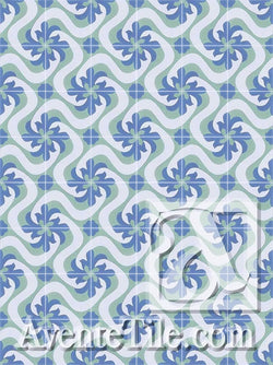Cuban Heritage Design 150 2B Encaustic Cement Tile Rug