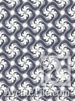 Cuban Heritage Design 150 3A Encaustic Cement Tile Rug