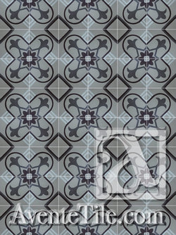 Cuban Heritage Design 160 4A Encaustic Cement Tile Rug