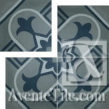 "Cuban Heritage Design 160 5B 8""x8"" Encaustic Cement Tile"
