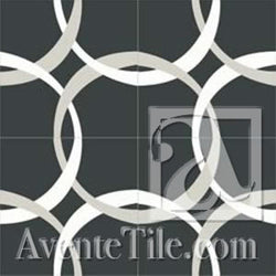 Mission Aros 2 Encaustic Cement Tile (4 tiles)
