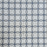 Geometric Rings C Encaustic Cement Tile Rug Design