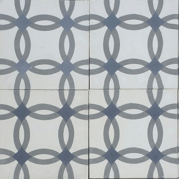 Geometric Rings C Encaustic Cement Tile Quarter Design Layout