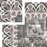 "Cuban Heritage Design 220 2A Inside Corner 8"" x 8"" Cement Tile"