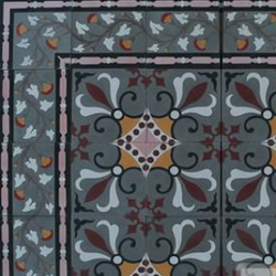"Cuban Heritage Design 230 1A 8""x8"" Encaustic Cement Tile"