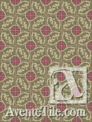 Cuban Heritage Design 240 3A Encaustic Cement Tile Rug