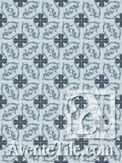 Cuban Heritage Design 240 4B Encaustic Cement Tile Rug