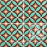 Geometrical Petals E Ceramic Tile Grouping