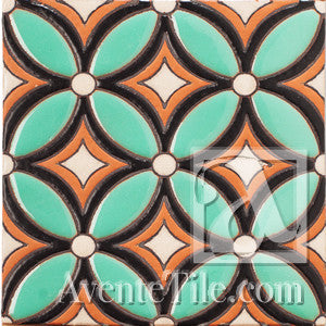 Geometrical Petals E Ceramic Tile