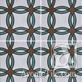 Geometrical Rings B Ceramic Tile Grouping