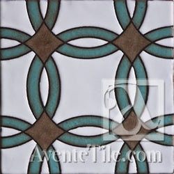 Geometrical Rings B Ceramic Tile