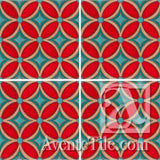 Geometrical Petals F Ceramic Tile Grouping