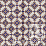 Geometrical Petals H Ceramic Tile Grouping
