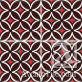 Geometrical Petals I  Ceramic Tile Grouping