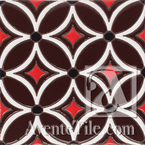 Geometrical Petals I  Ceramic Tile