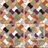Geometrical Weave B Ceramic Tile Grouping