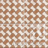 Geometrical Weave D Ceramic Tile Grouping