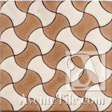 Geometrical Weave D Ceramic Tile