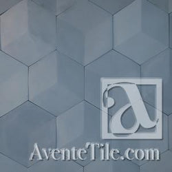 Elevations 3D Hexagon Relief Cement Tile