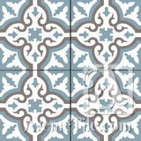 "Traditional Neiba E 8"" x 8"" Cement Tile"
