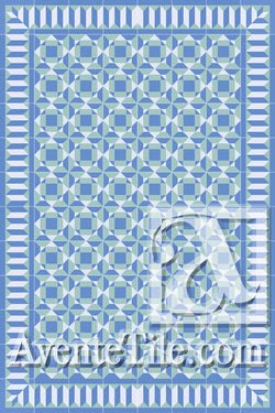 Cuban Heritage Design 210 2B Encaustic Cement Tile Rug