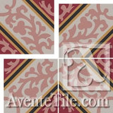 Cuban Heritage Design CH260-1A Field B - Encaustic Cement Tile