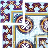 "Cuban Heritage Design 120 1A outside corner 8""x8"" Encaustic Cement Tile"