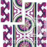 "Cuban Heritage Design 120 3A Border 8"" x 8"" Cement Tile"