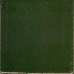 Yucatan Dark Green Hand Painted Plain Ceramic Tile